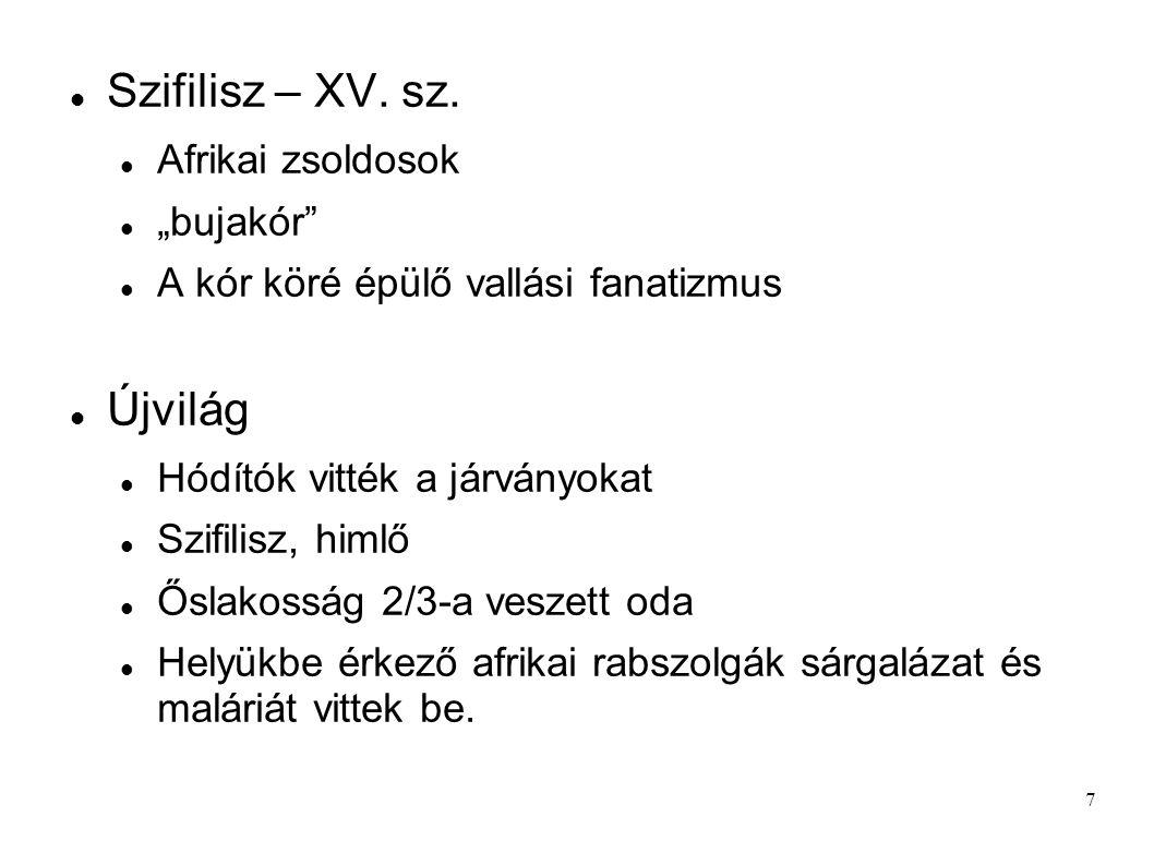 7 Szifilisz – XV.sz.
