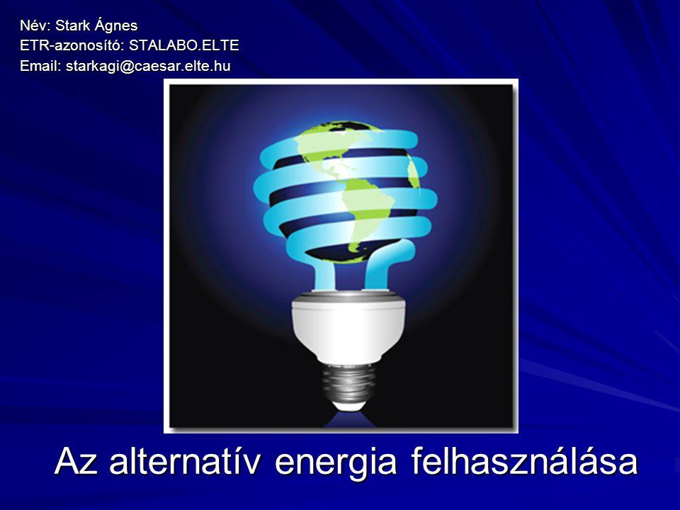Mi az alternatív energia.