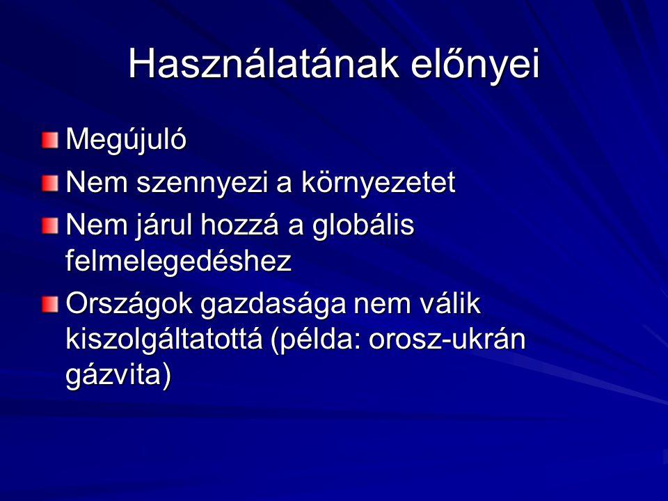 Napenergia Napsugárzás hasznosítása Hasznosításának módjai: passzív (pl.