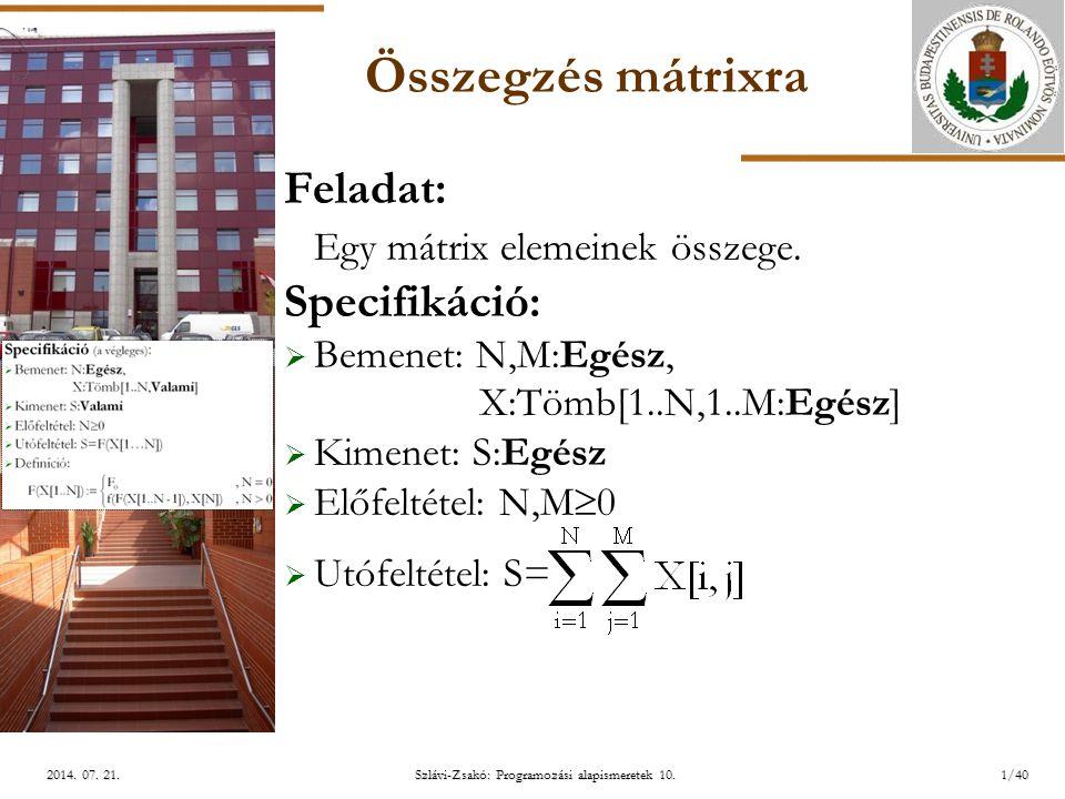 ELTE Szlávi-Zsakó: Programozási alapismeretek 10.1/402014.
