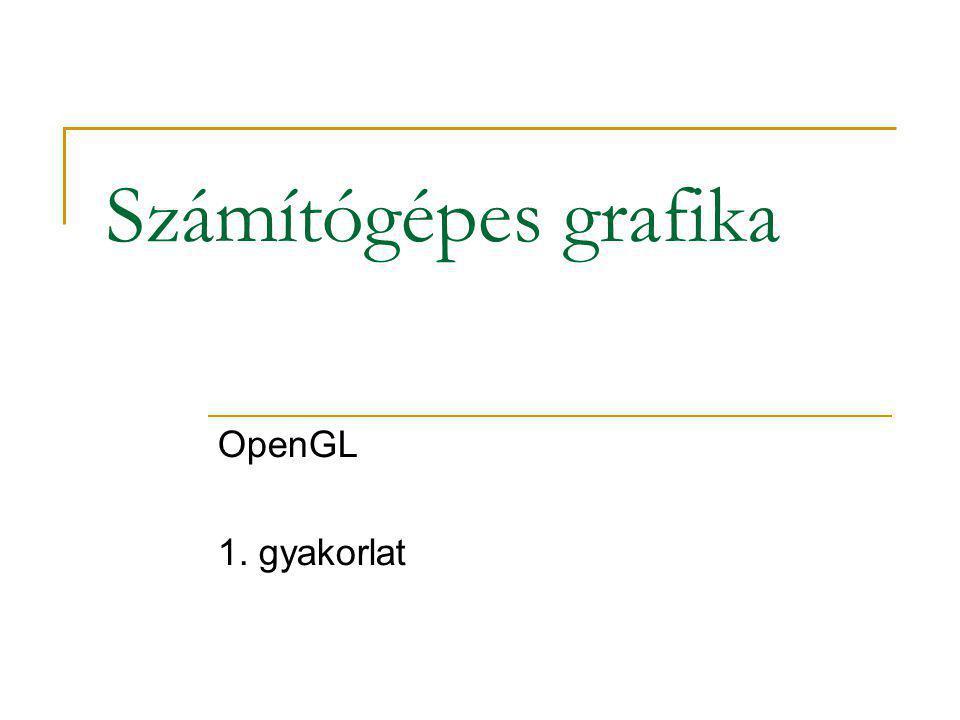 Tartalom 1. OpenGL röviden 2. Első program: üres képernyő 3. Második program: rajzolás