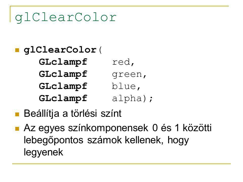 OpenGL adattípus typedef-ek