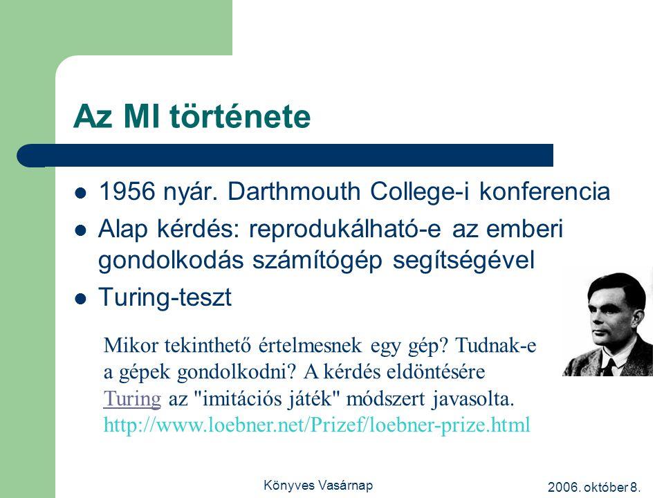 2006. október 8. Könyves Vasárnap Az MI története 1956 nyár.