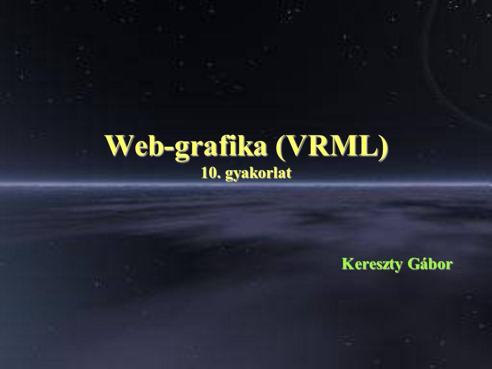 Web-grafika (VRML) 10. gyakorlat Kereszty Gábor