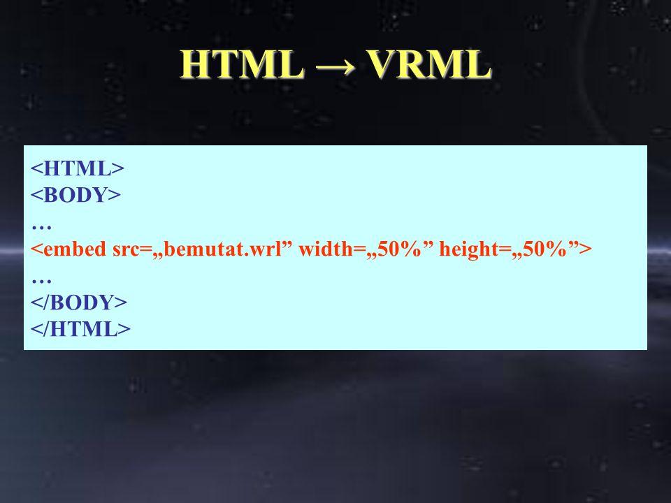 HTML → VRML … …