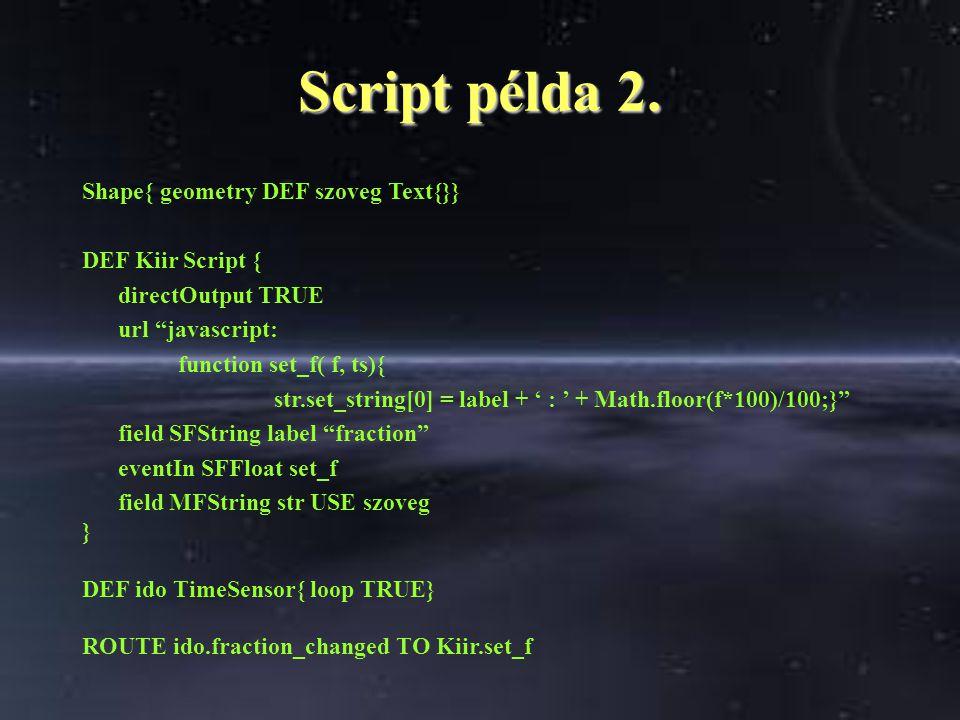 Script példa 2.