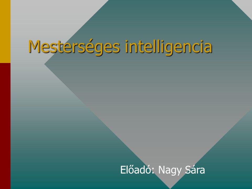 Mesterséges intelligencia Előadó: Nagy Sára