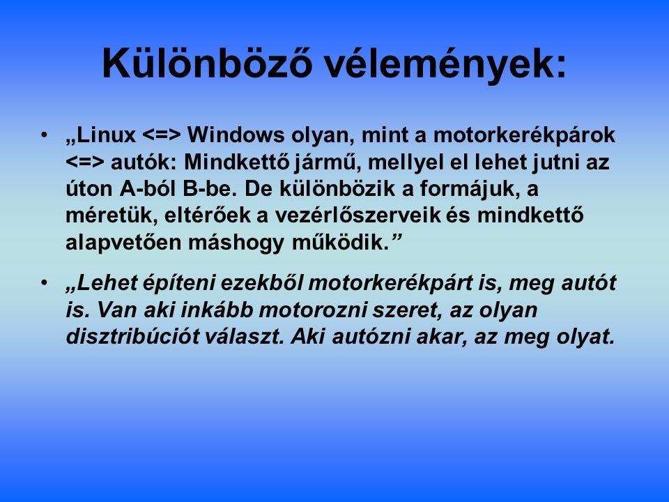 Biztonság: A Windows születése óta elsősorban a nem szakmabeli felhasználókat célozza meg, és legnagyobb számban a mai napig otthoni gépeken illetve munkaállomáskon használják.