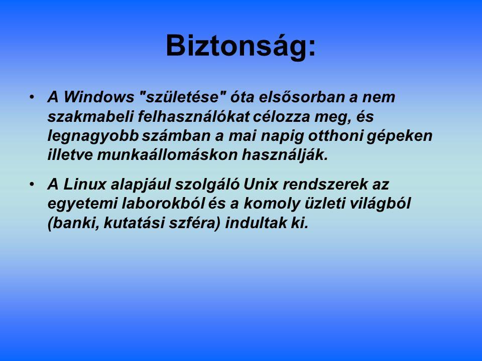 Biztonság: A Windows