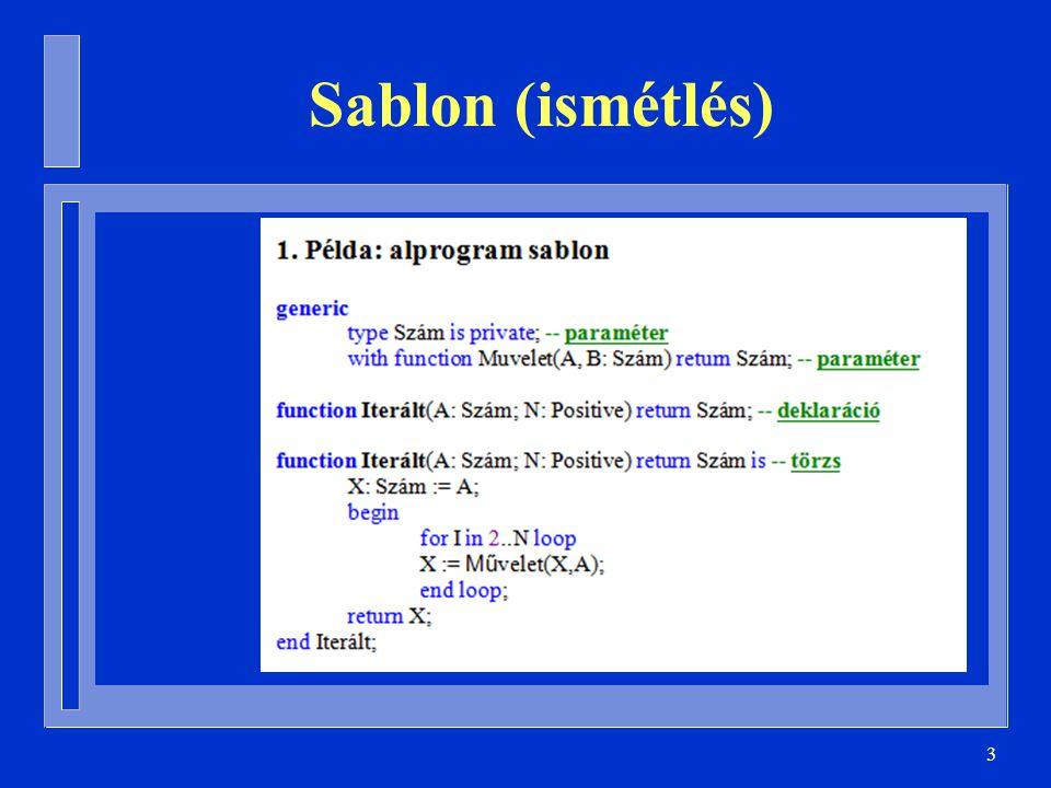 3 Sablon (ismétlés)