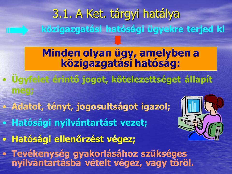 3. A Ket. hatálya = egy jogszabály Milyen személyekre, szervezetre Milyen élet- viszonyokra Milyen területen Milyen időben állapít meg jogokat, kötele