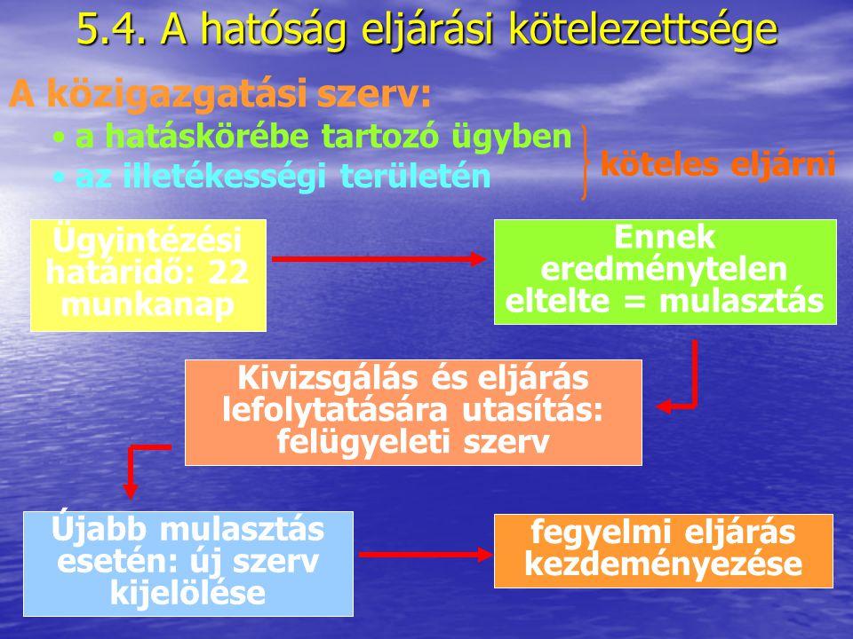 5.3. Illetékesség A több azonos hatáskörű szerv közül területi alapon melyik az az egy hatóság, amelyik a konkrét ügyben eljárhat Illetékességi okok: