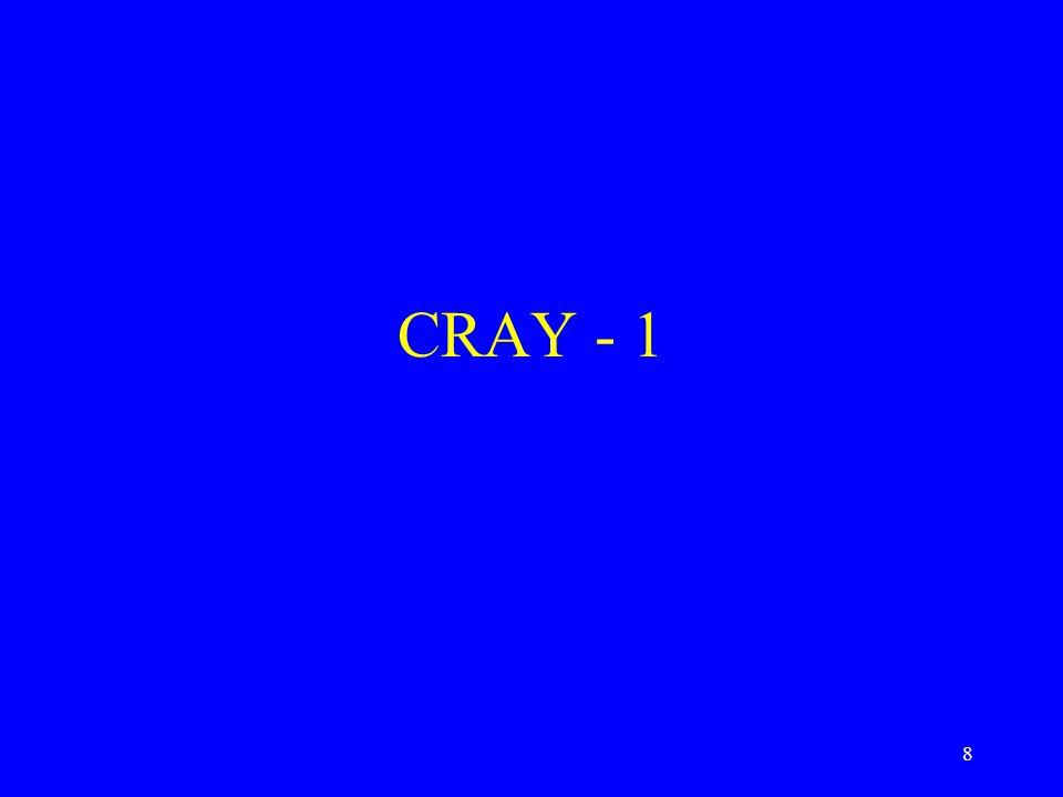 8 CRAY - 1