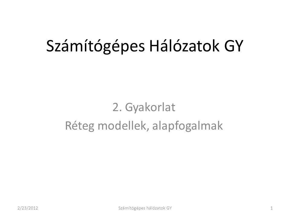 Számítógépes Hálózatok GY 2.