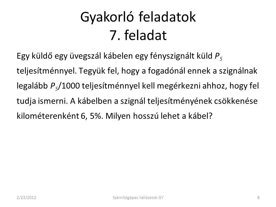Gyakorló feladatok 7.