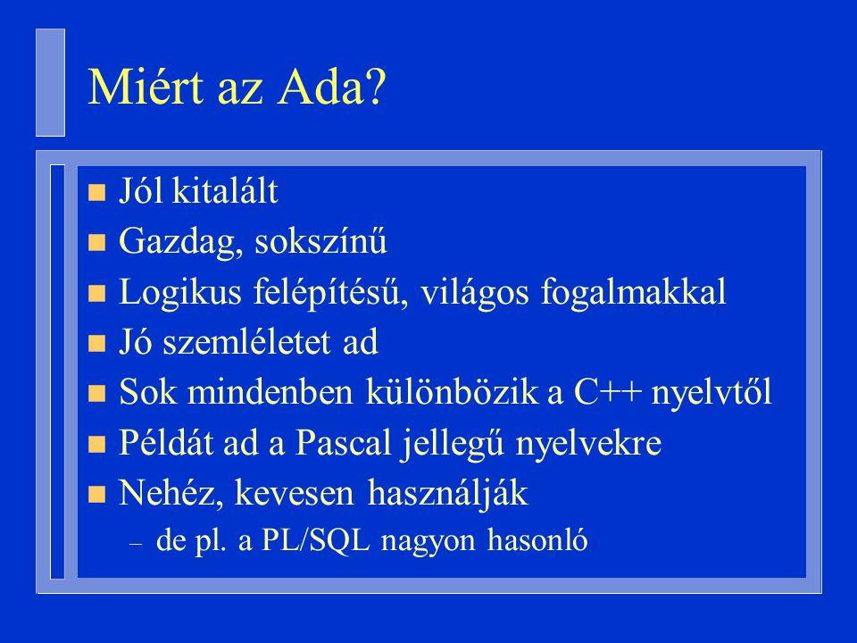 Miért az Ada.
