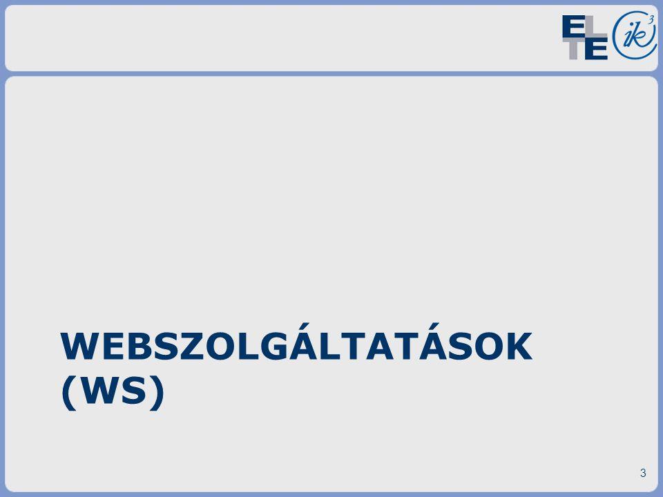 WEBSZOLGÁLTATÁSOK (WS) 3