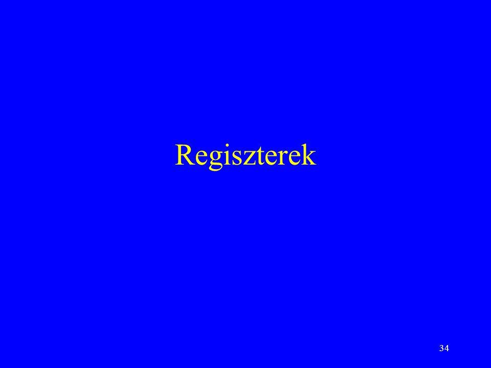 34 Regiszterek