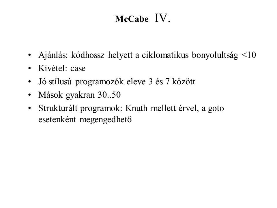 McCabe IV.