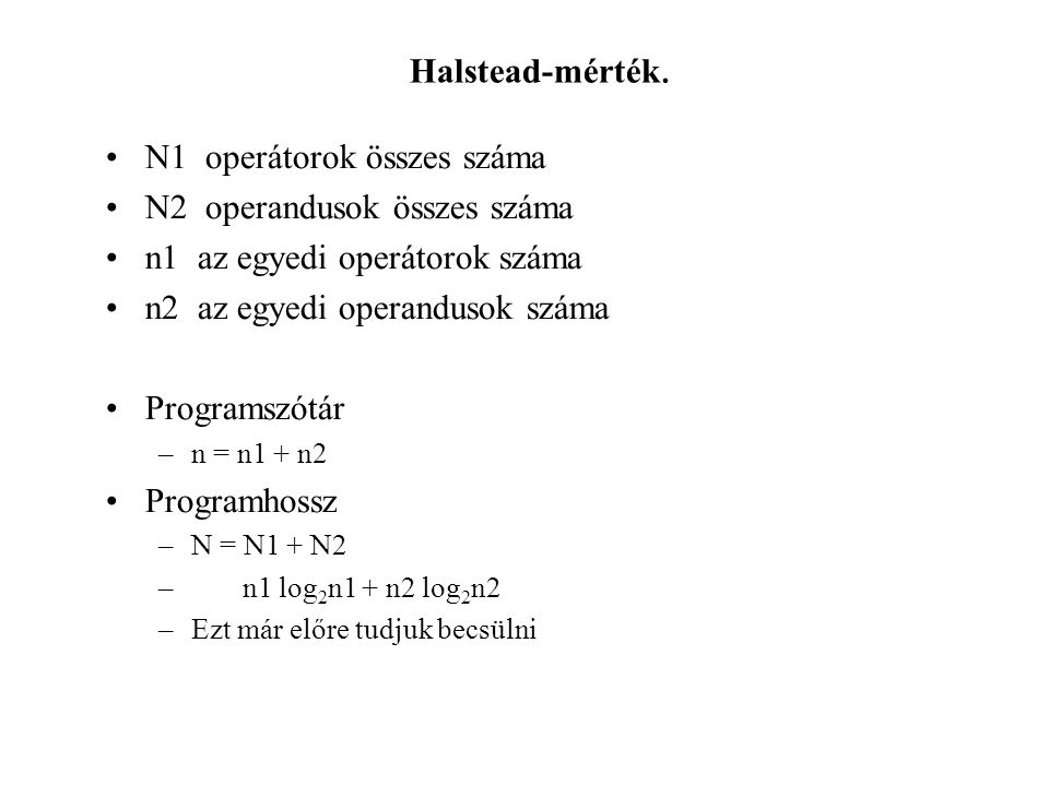 Halstead-mérték.
