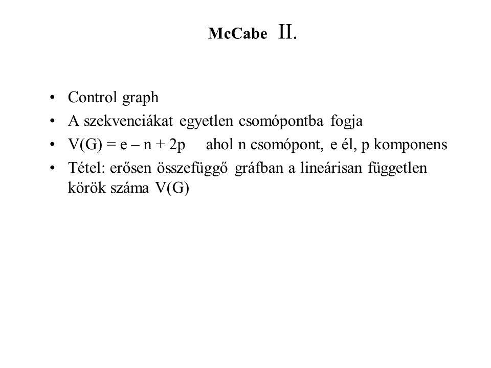 McCabe II.