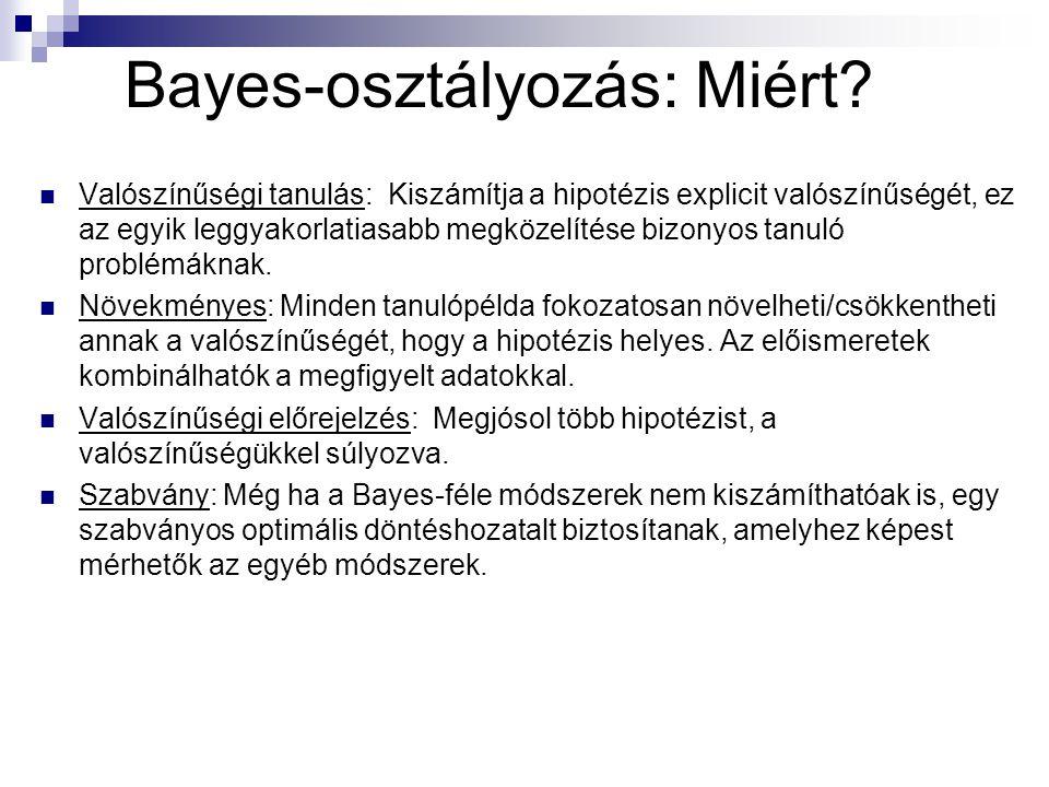 Bayes-osztályozás: Miért.