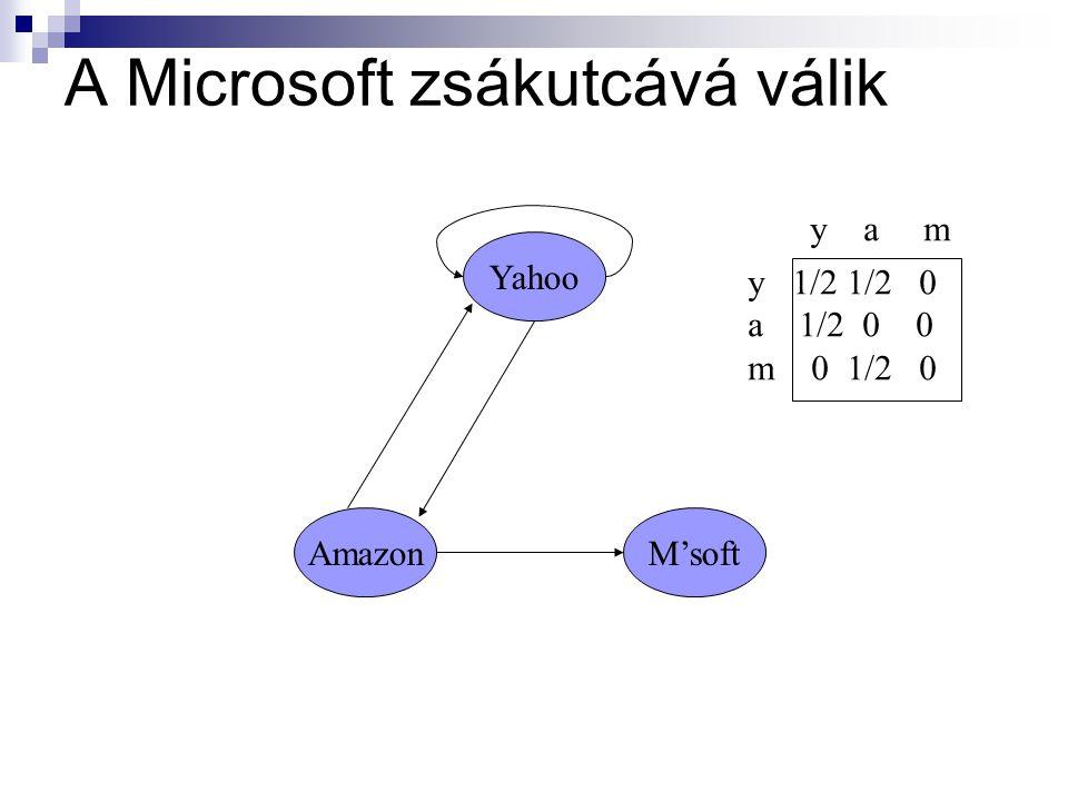 A Microsoft zsákutcává válik Yahoo M'softAmazon y 1/2 1/2 0 a 1/2 0 0 m 0 1/2 0 y a m