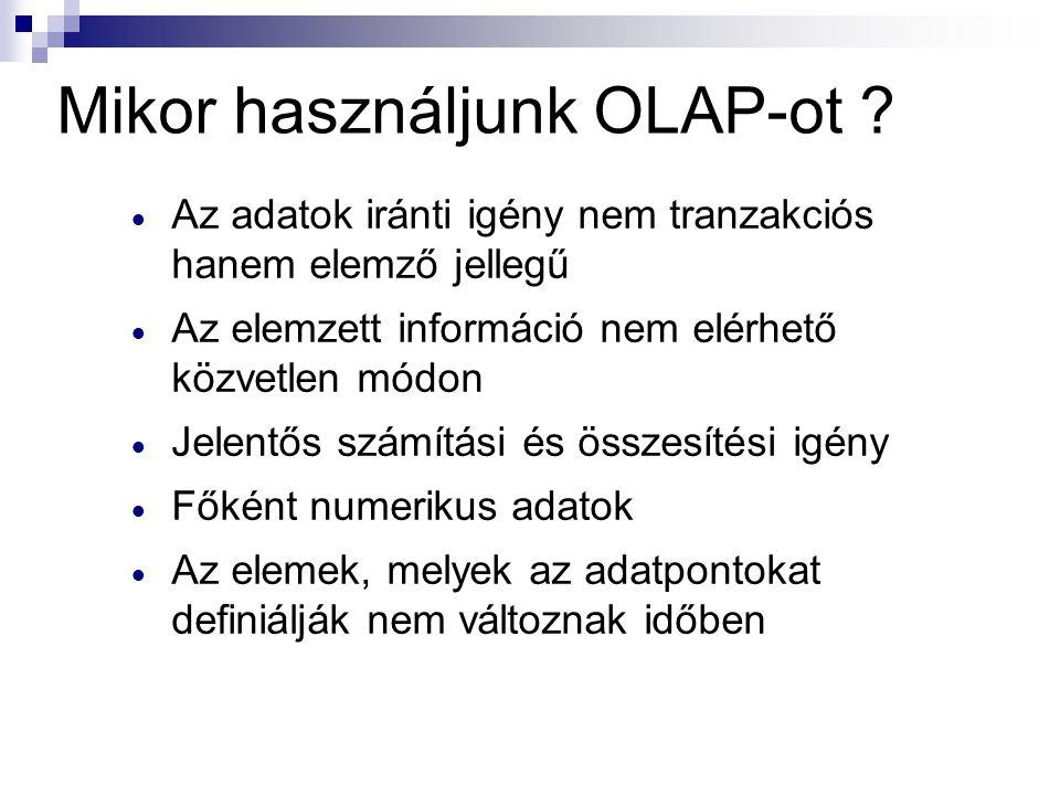Mikor használjunk OLAP-ot .