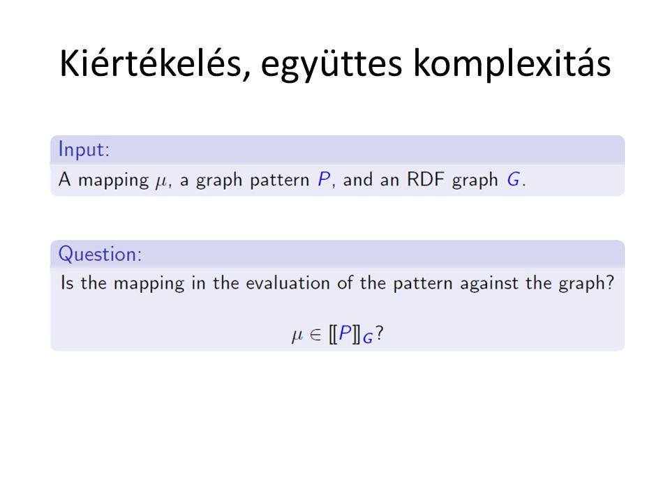Kiértékelés, együttes komplexitás