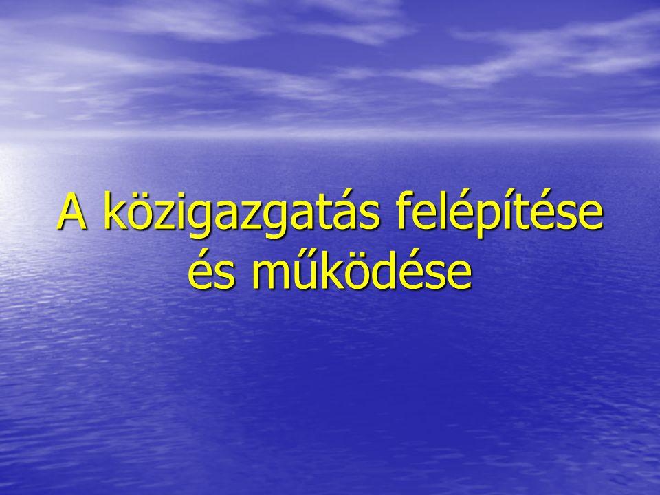 12 A minisztérium szervezete