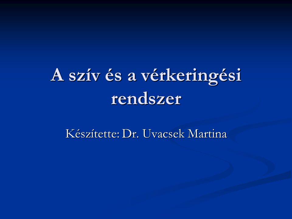 A szív és a vérkeringési rendszer Készítette: Dr. Uvacsek Martina