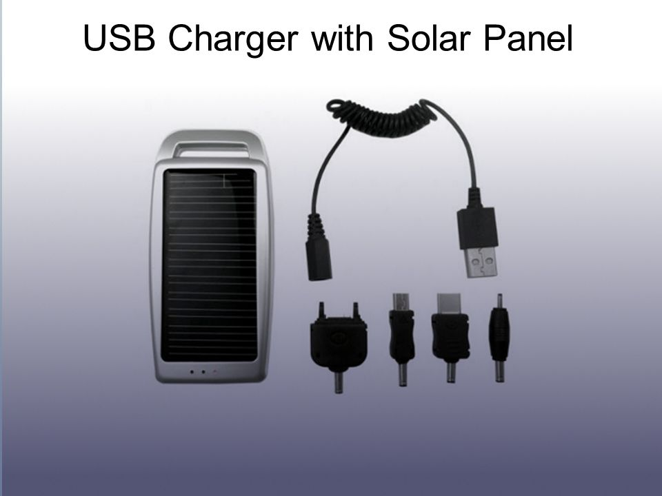 USB Charger with Solar Panel