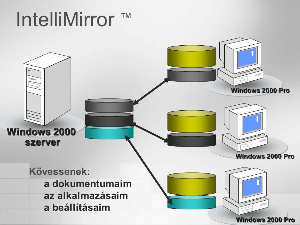 IntelliMirror ™ Windows 2000 szerver Windows 2000 Pro Kövessenek: a dokumentumaim az alkalmazásaim a beállításaim