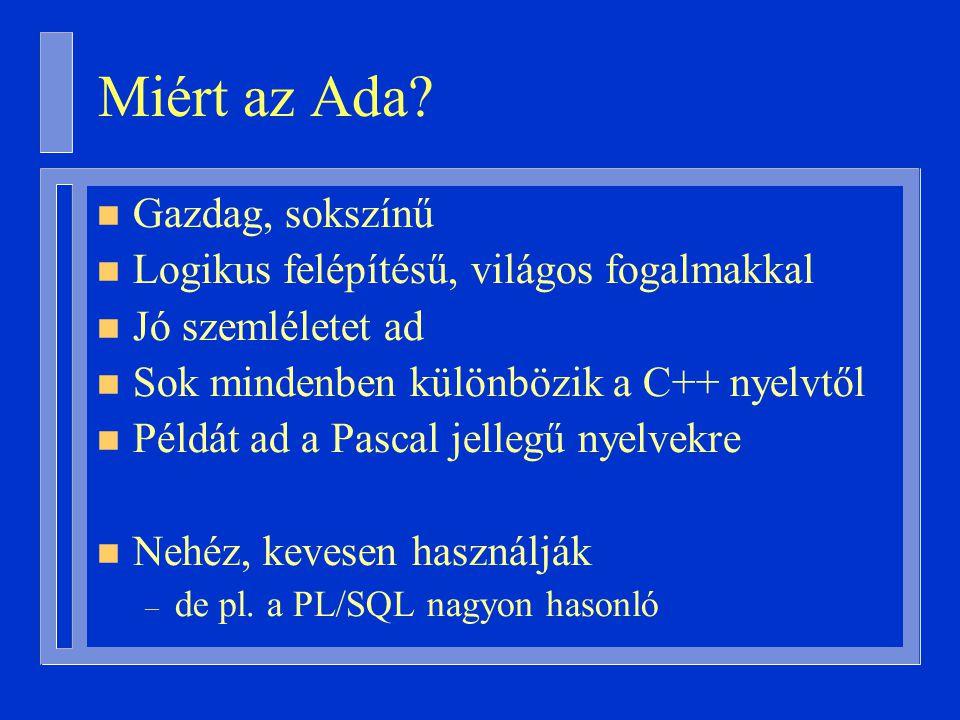 n Bevezetés a programozáshoz II.(volt: Programozási módszertan I.