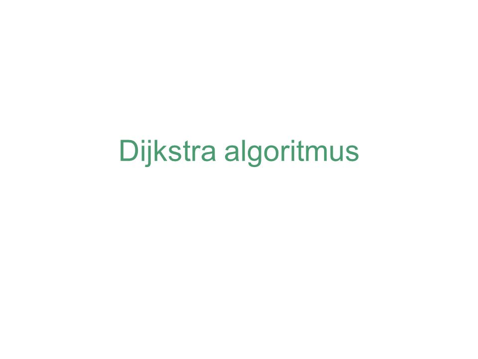 Dijkstra algoritmus