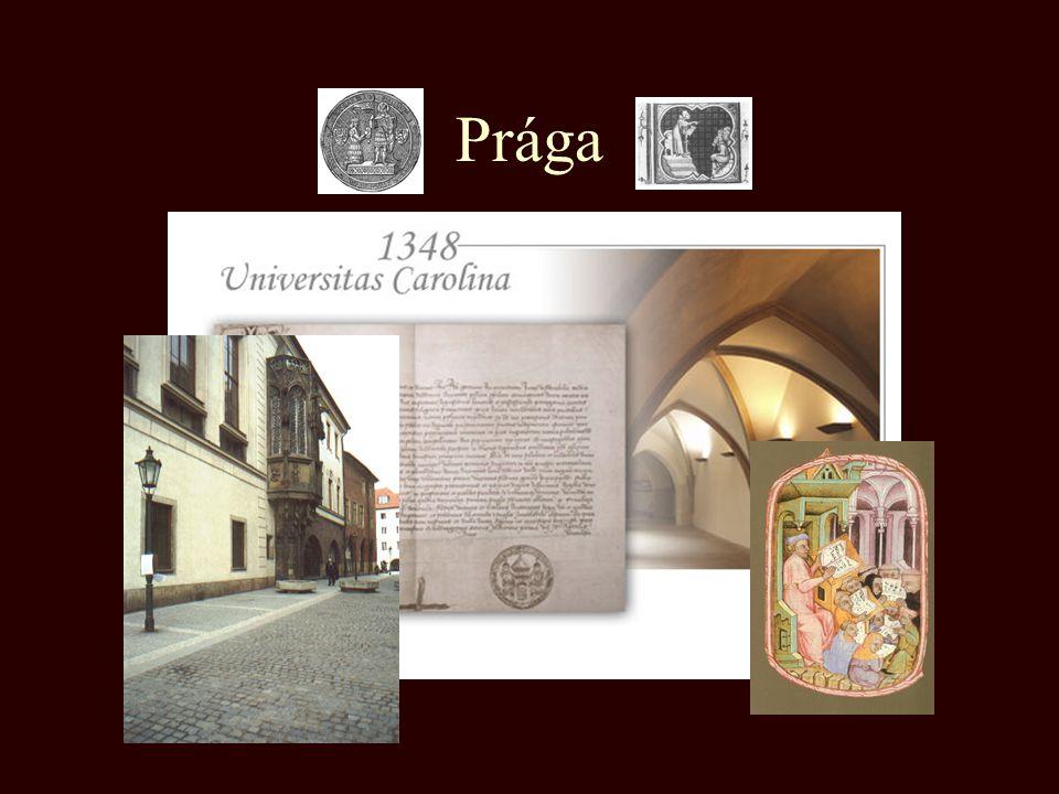 Középkori egyetemek 1088 - Bologna 1167 - Oxford 1215 - Párizs 1222 - Padova 1348 - Prága 1364 - Krakkó 1365 - Bécs 1367 - Pécs