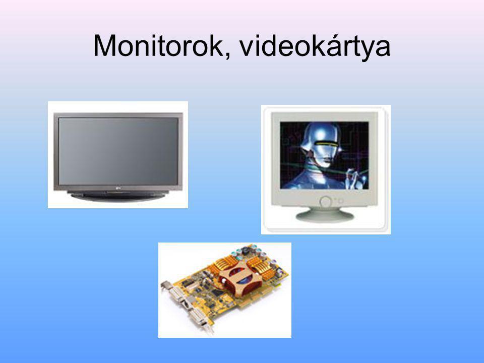 Monitorok, videokártya