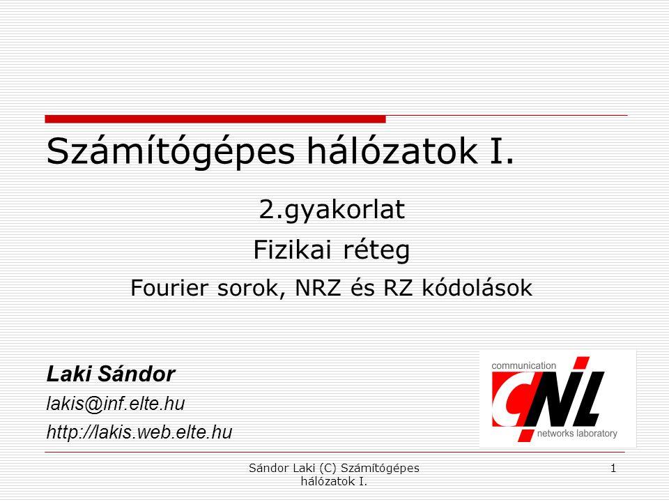 Sándor Laki (C) Számítógépes hálózatok I.1 Számítógépes hálózatok I.