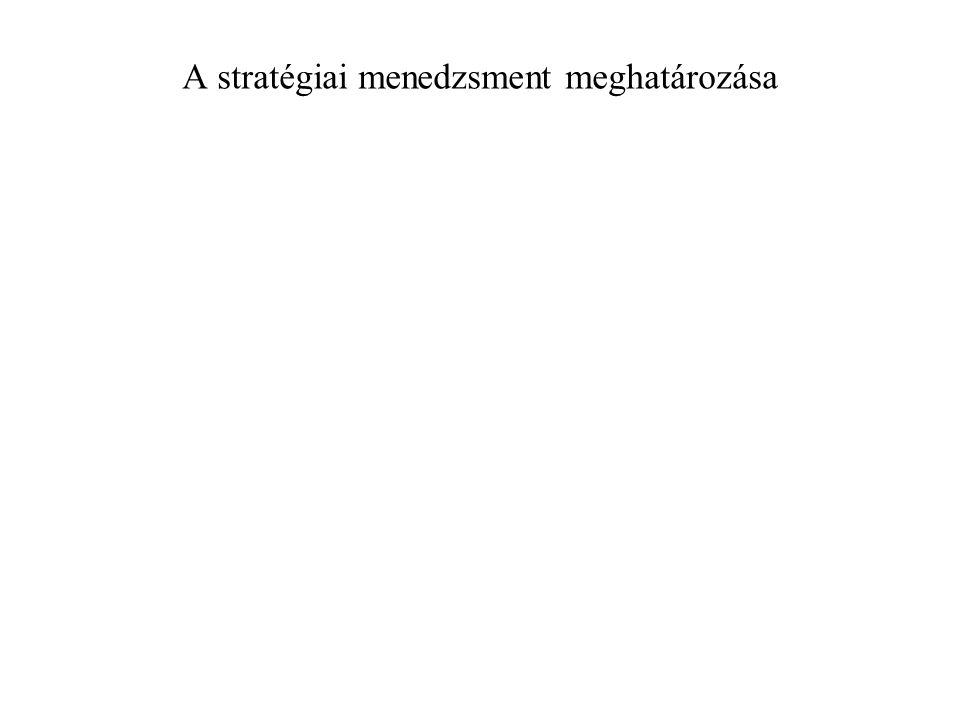 A stratégiai menedzsment meghatározása