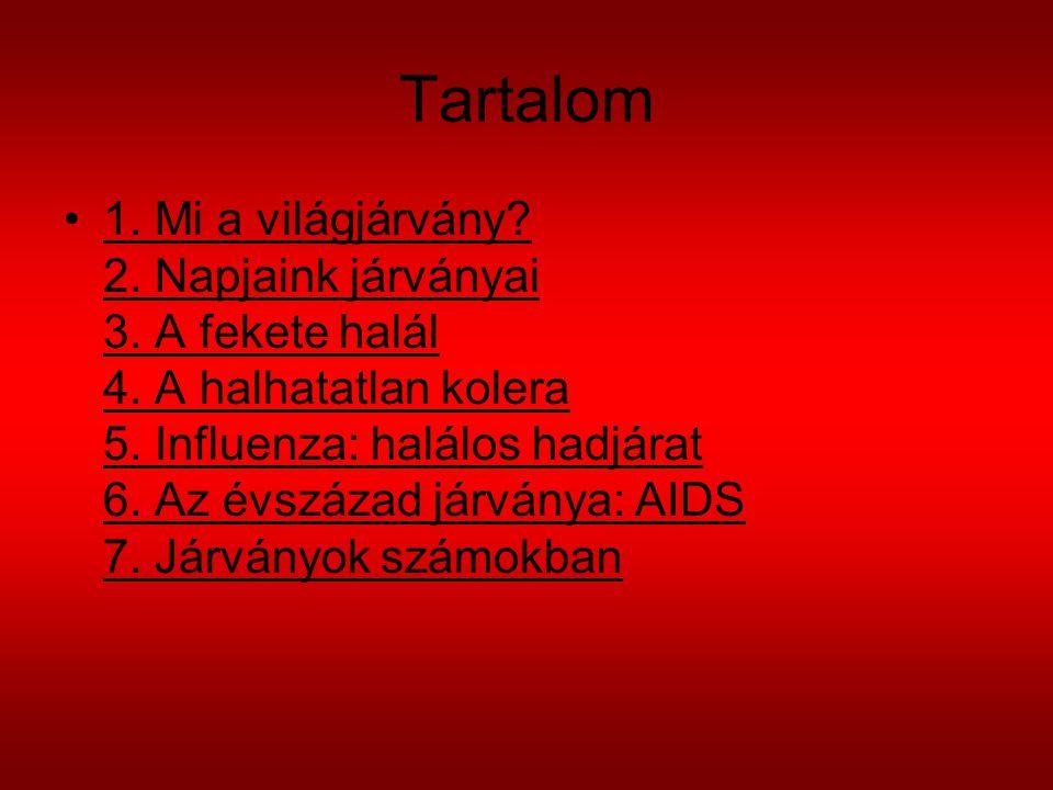 Tartalom 1.Mi a világjárvány. 2. Napjaink járványai 3.