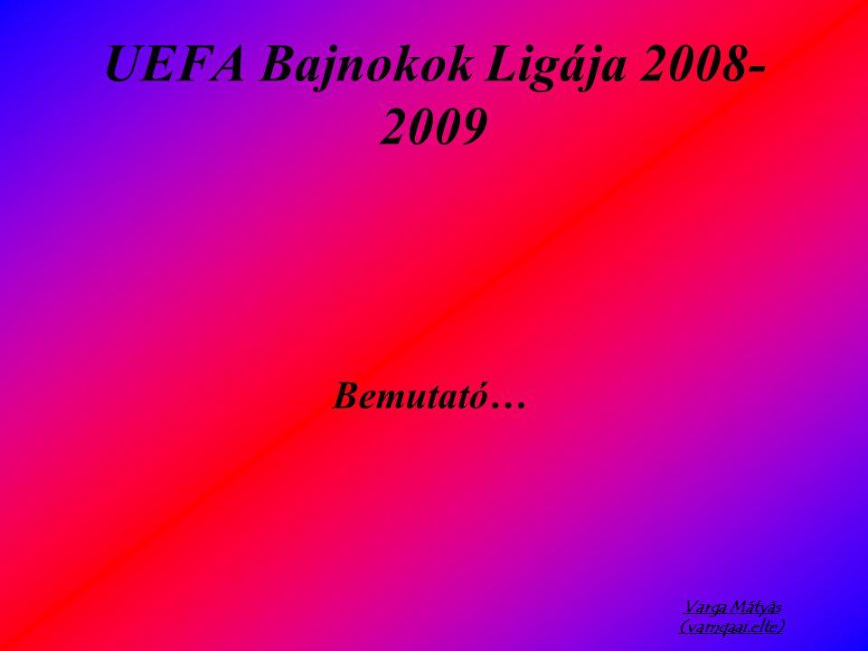 Varga Mátyás (vamqaai.elte) UEFA Bajnokok Ligája 2008- 2009 Bemutató…