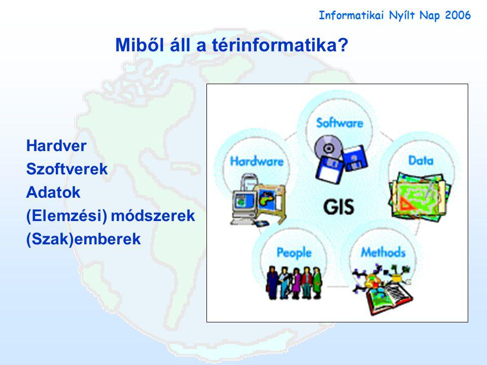 Informatikai Nyílt Nap 2006 Miből áll a térinformatika.