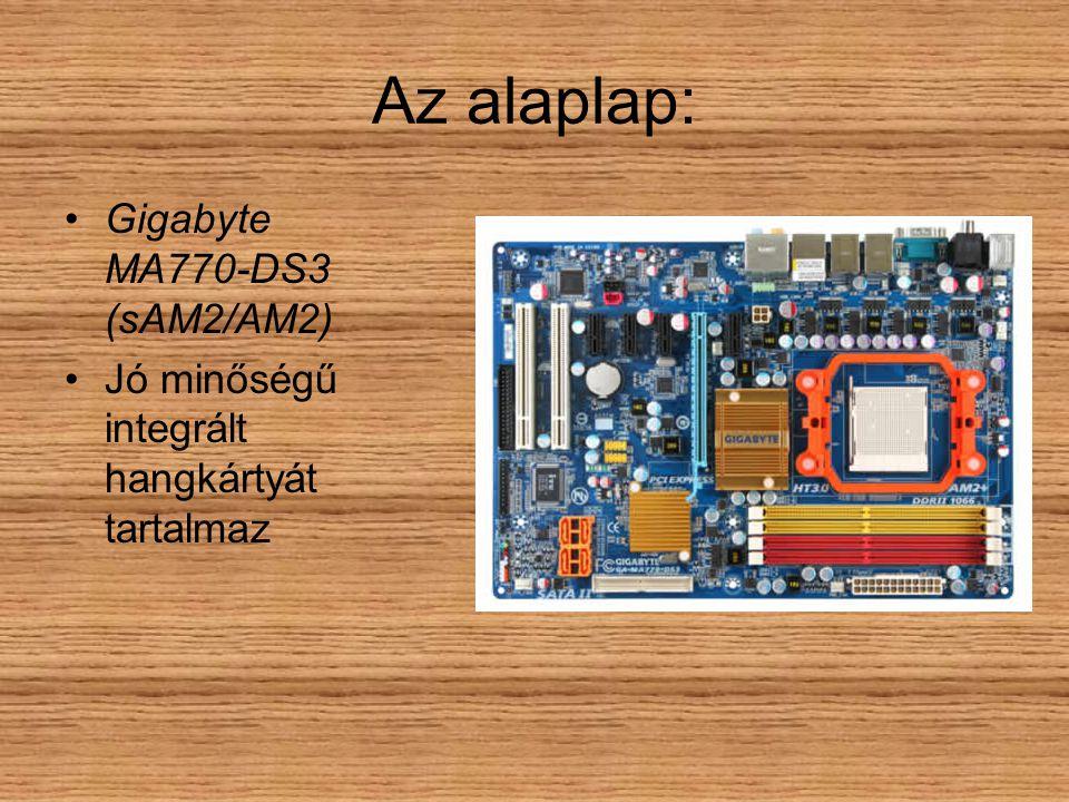 Az alaplap: Gigabyte MA770-DS3 (sAM2/AM2) Jó minőségű integrált hangkártyát tartalmaz