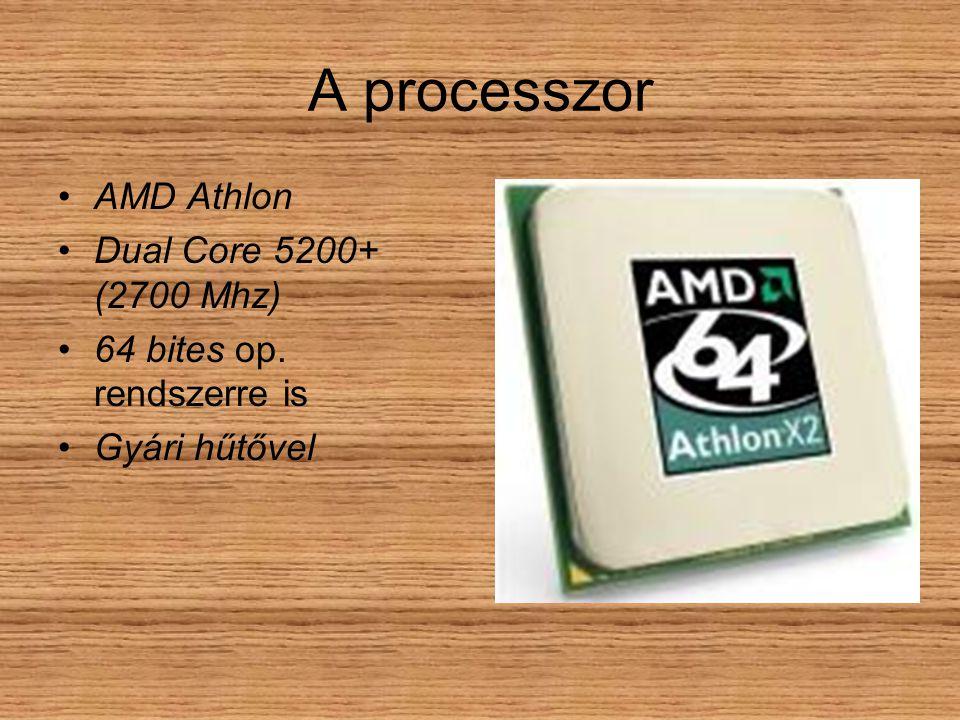 A processzor AMD Athlon Dual Core 5200+ (2700 Mhz) 64 bites op. rendszerre is Gyári hűtővel