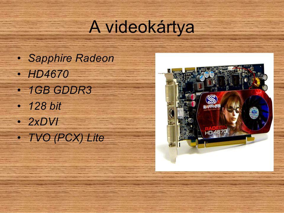 A videokártya Sapphire Radeon HD4670 1GB GDDR3 128 bit 2xDVI TVO (PCX) Lite