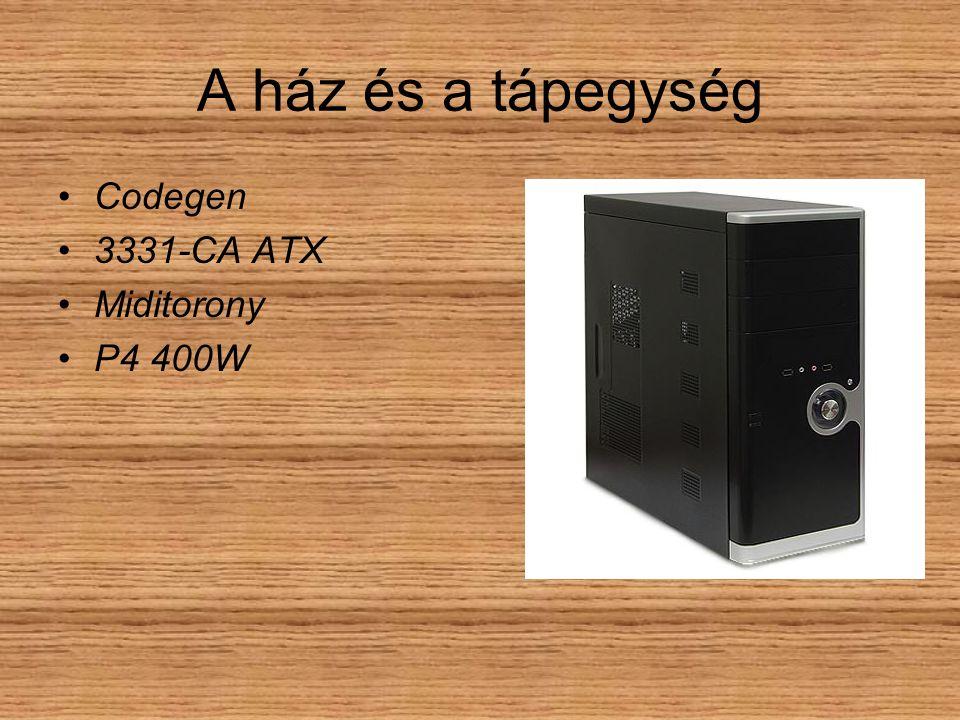 A ház és a tápegység Codegen 3331-CA ATX Miditorony P4 400W