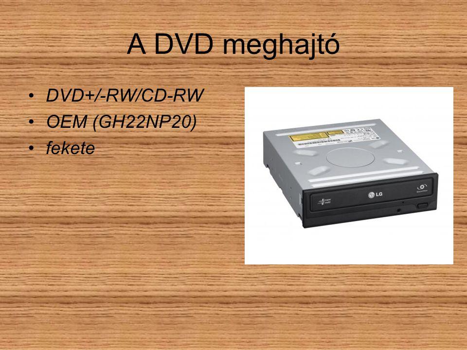 A DVD meghajtó DVD+/-RW/CD-RW OEM (GH22NP20) fekete