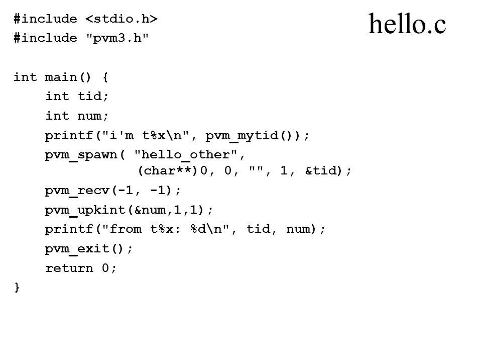 hello.c #include #include