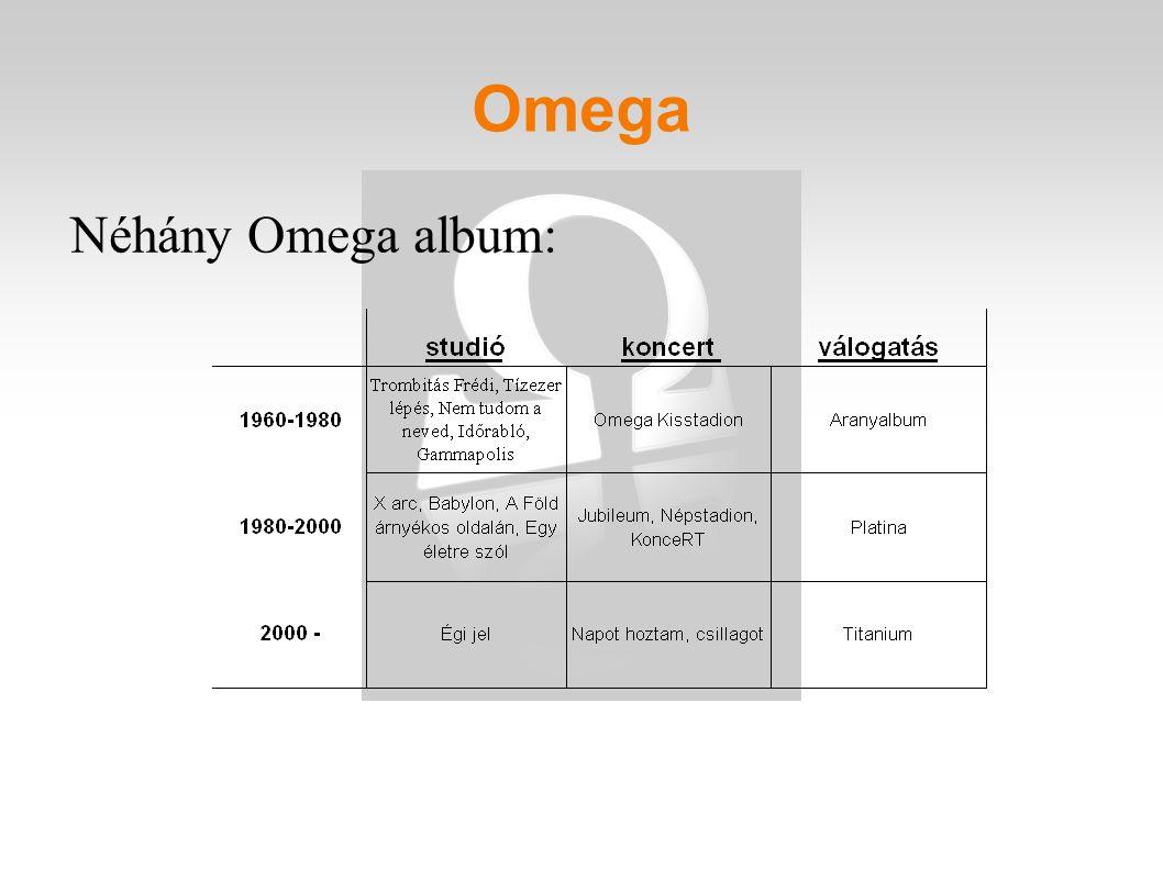 Néhány Omega album: Omega