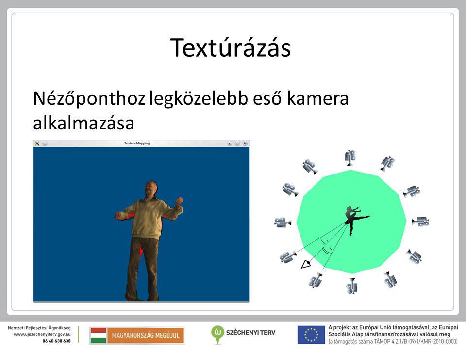 Textúrázás Nézőponthoz legközelebb eső kamera alkalmazása